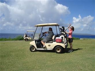 絶景の中でのゴルフ!フェアウェイカート乗り入れOK!最高です。