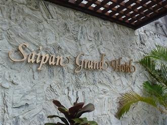 宿泊先のサイパングランドホテル。7階から10階のオーシャンビューで最高の景色でした。朝起きると一面に広がる海海海!!!