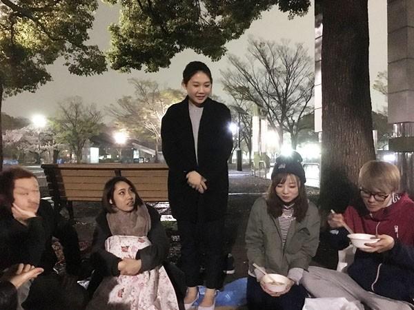 続いて新人自己紹介の前に先輩、田村茉由(マユ)がお手本を!
