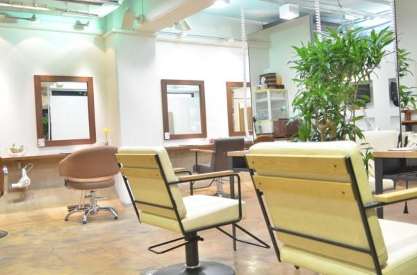 モダンな雰囲気でいろんな椅子でお出迎え。